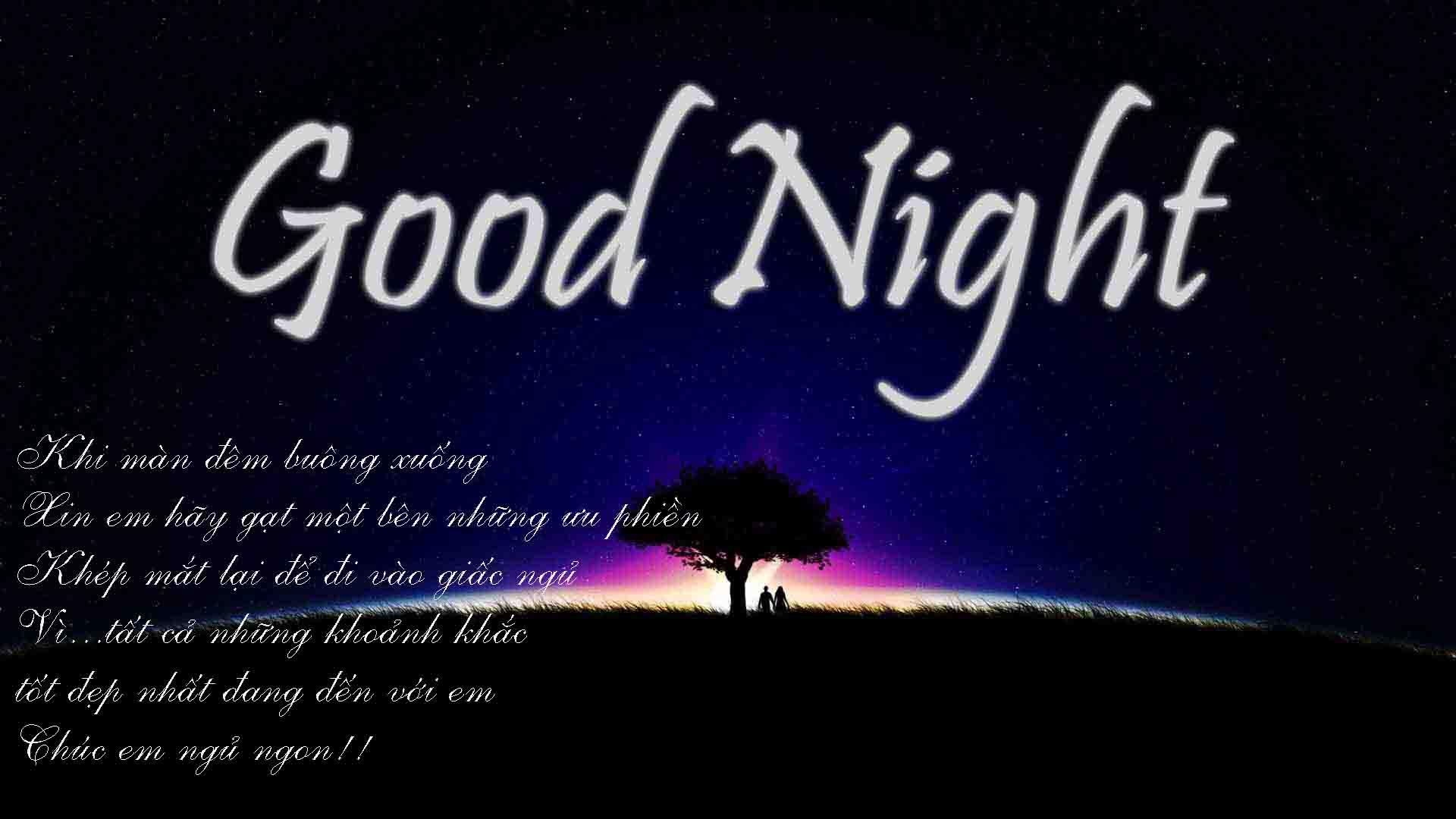 chúc người yêu ngủ ngon