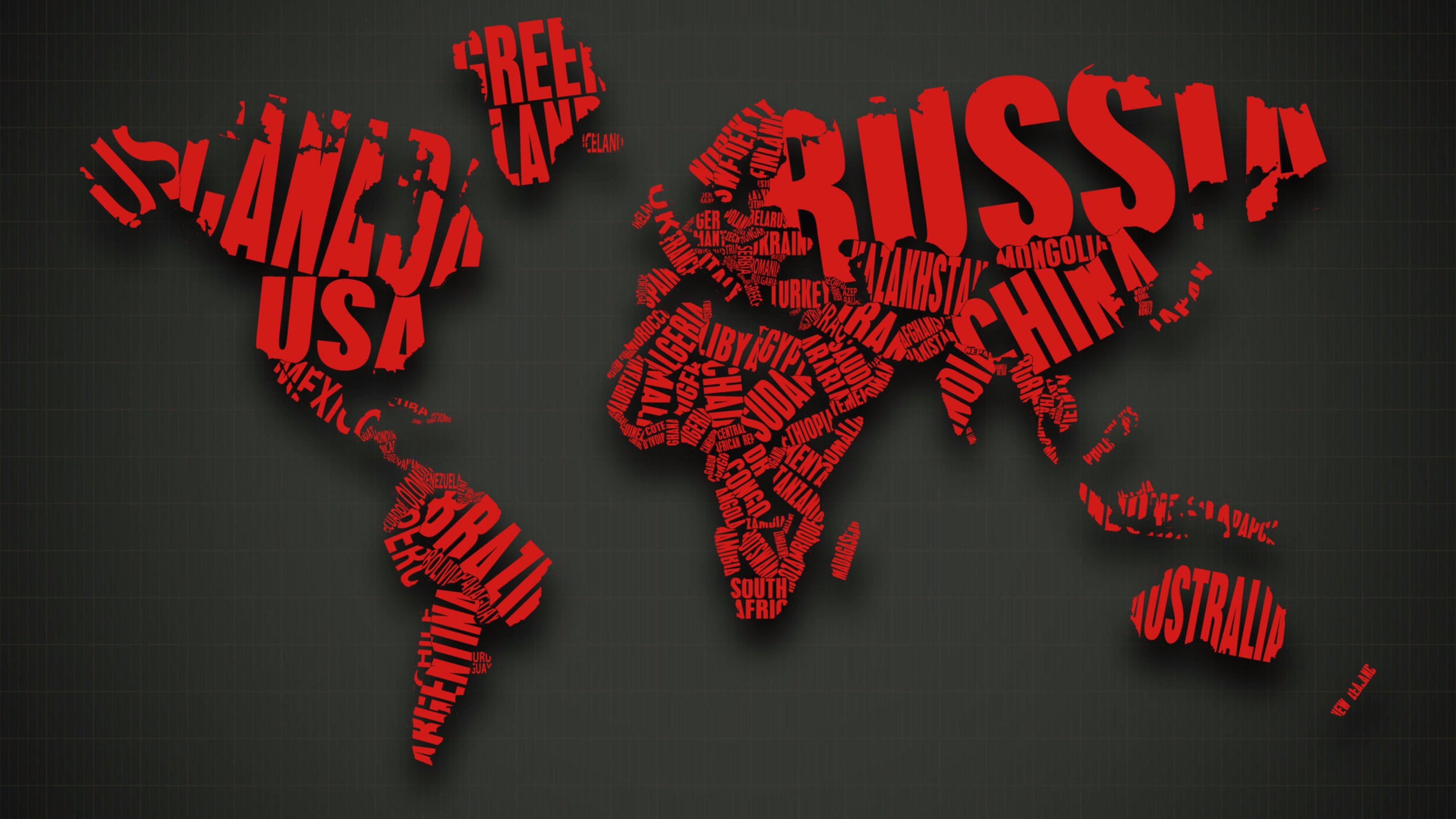 hình nền 4k bản đồ thế giới