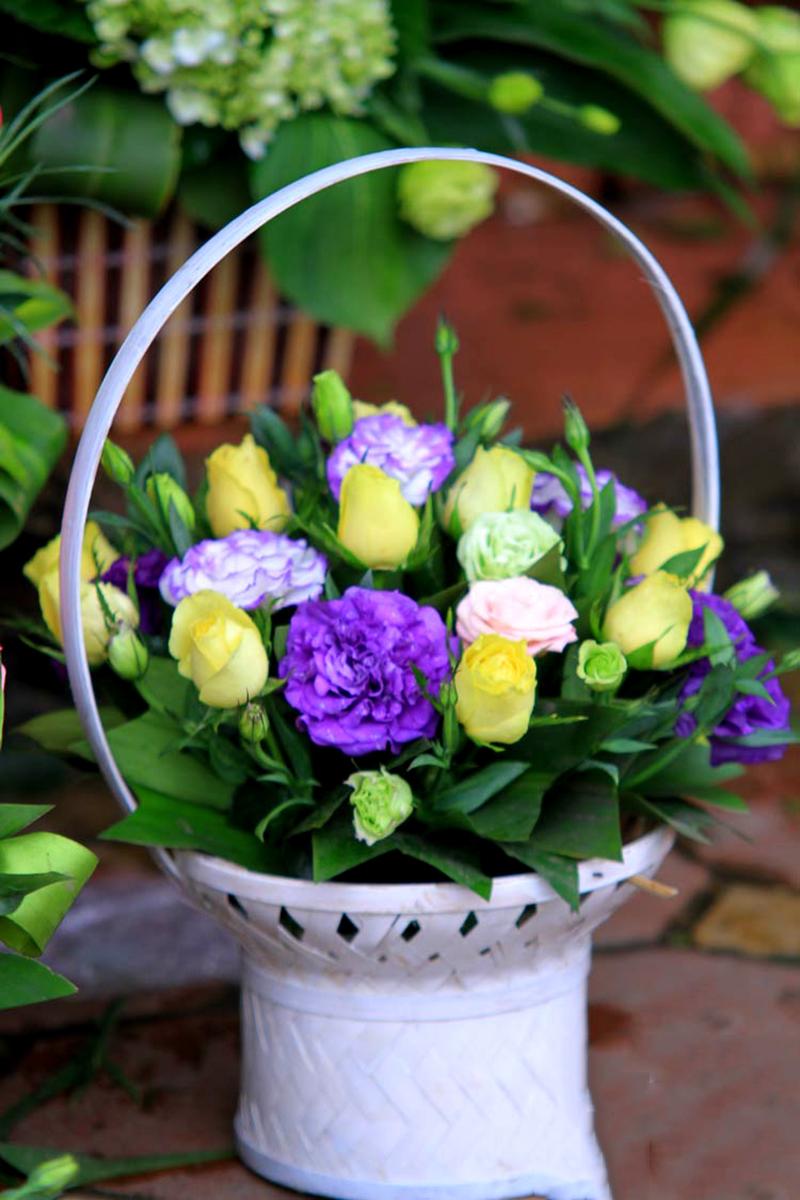 Hình ảnh giỏ hoa Cát Tường đẹp