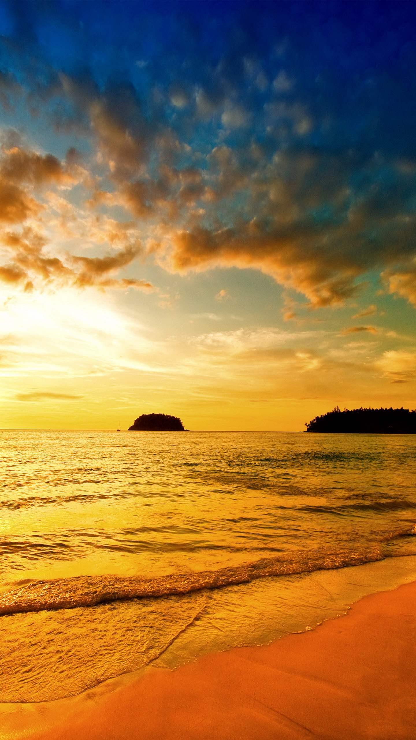 hình nền điện thoại bãi biển