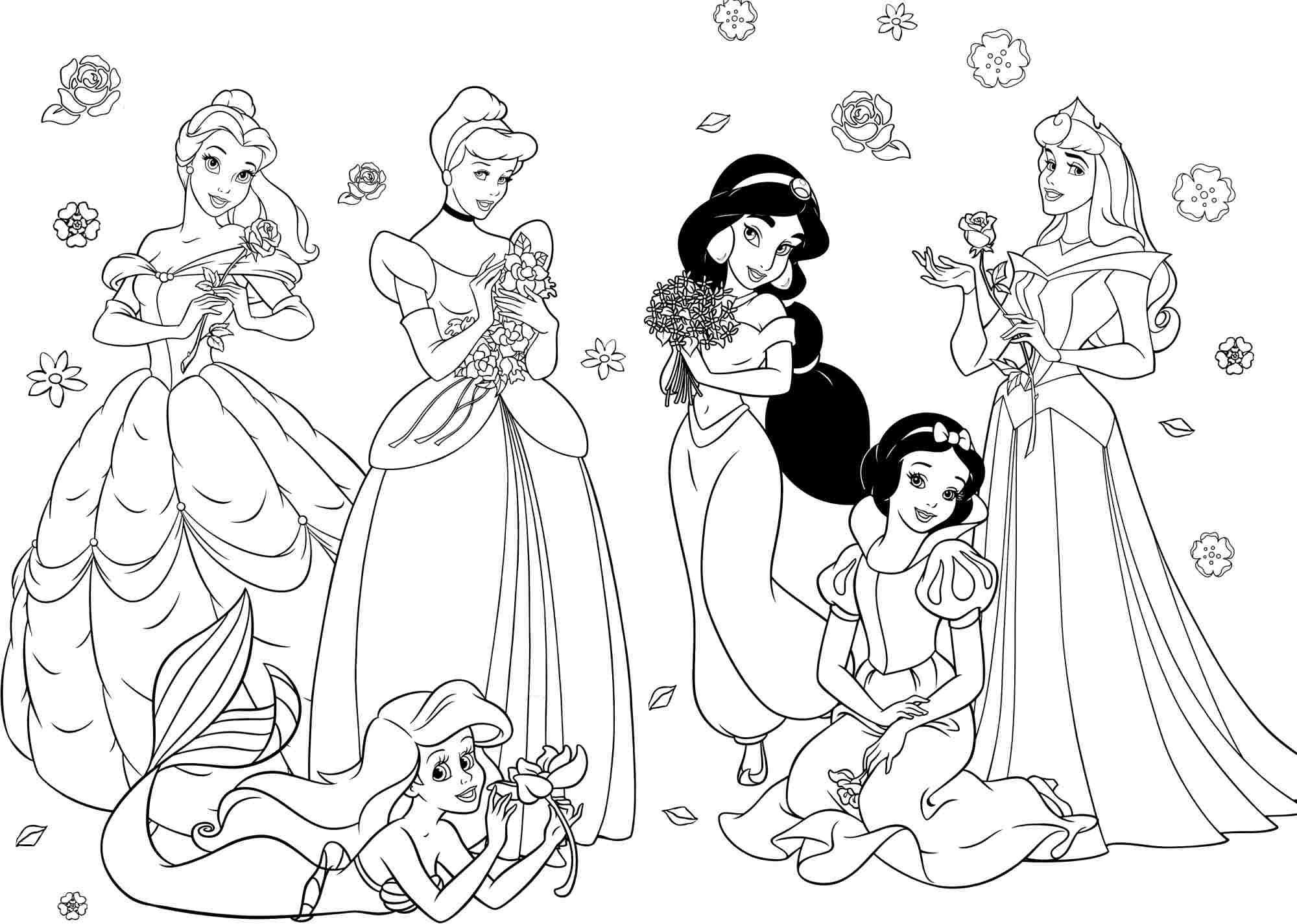 Tranh tô màu bảy nàng công chúa