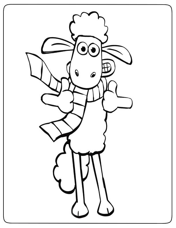 Tranh tô màu con cừu