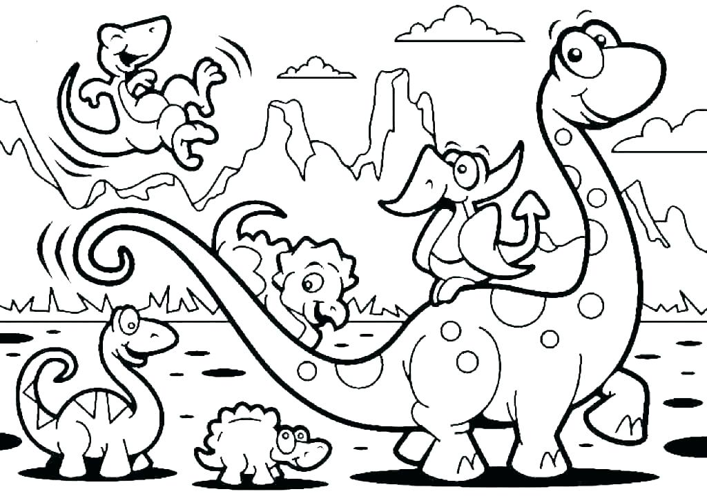 Tranh tô màu công viên khủng long