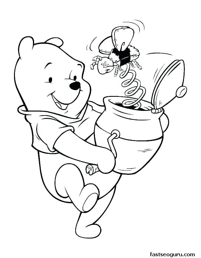 Tranh tô màu gấu Poor béo