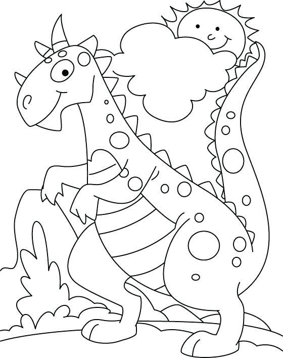Tranh tô màu khủng long khổng lồ