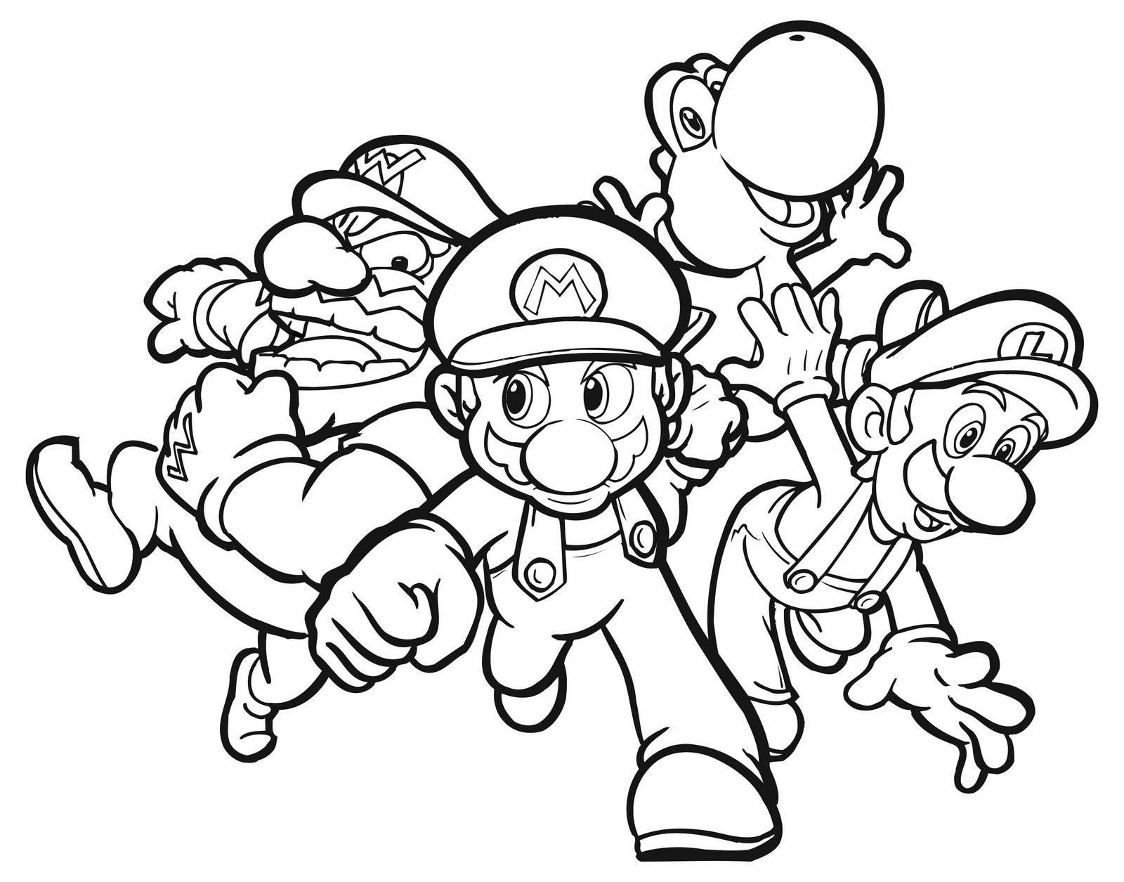 Tranh tô màu Mario