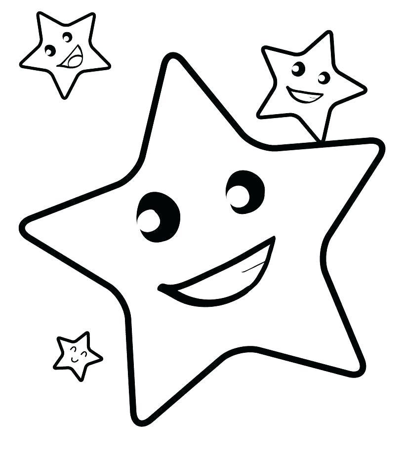 Tranh tô màu ngôi sao đẹp