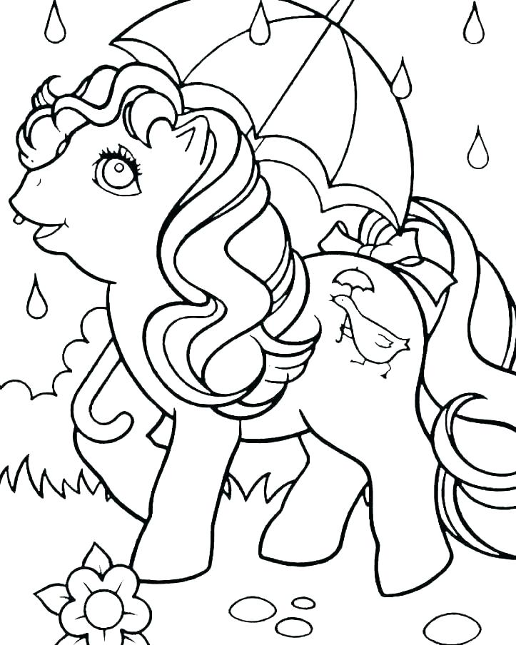 Tranh tô màu ngựa bảy màu đáng yêu