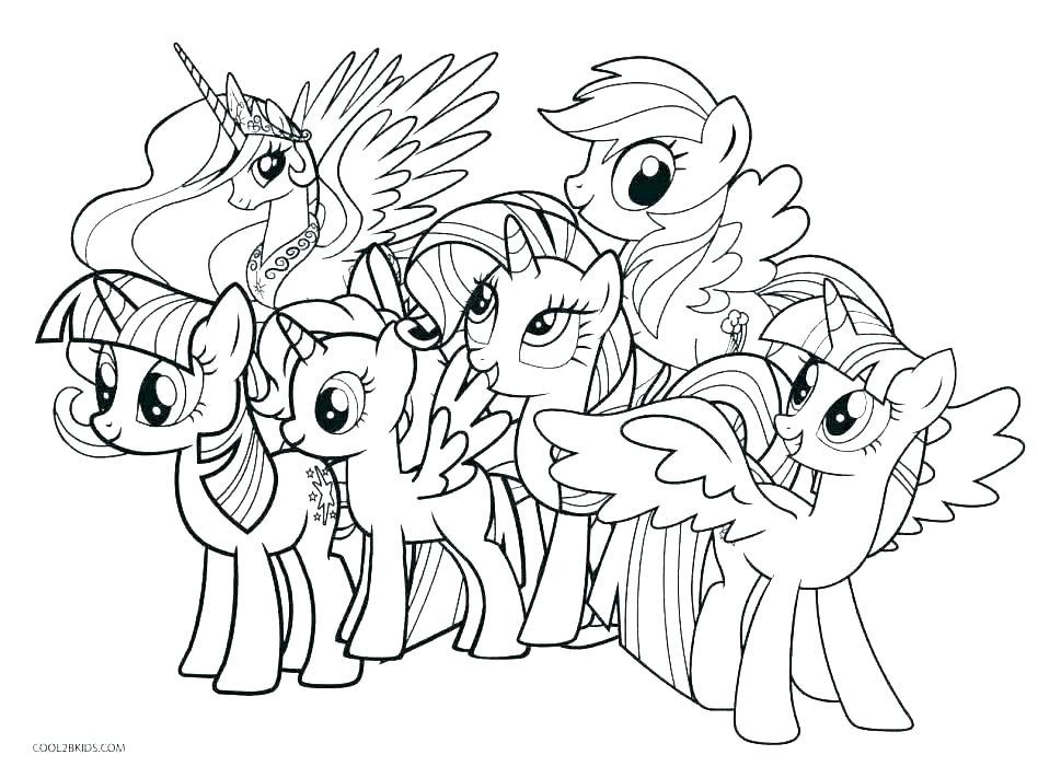 Tranh tô màu ngựa bảy màu