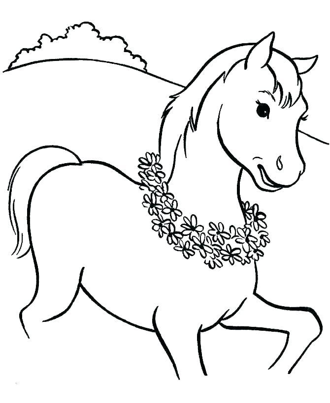 Tranh tô màu ngựa đẹp nhất