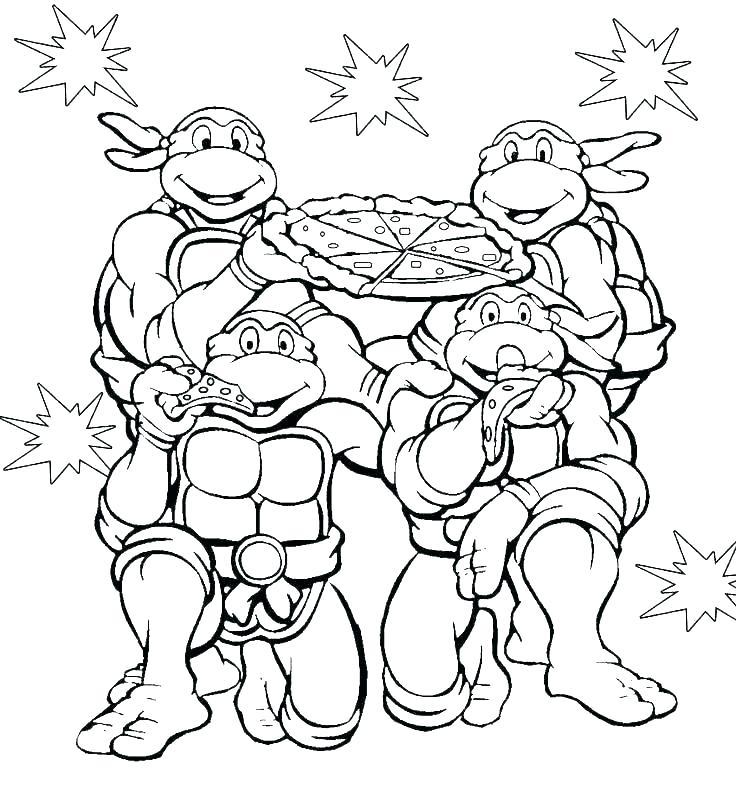 Tranh tô màu Ninja Rùa