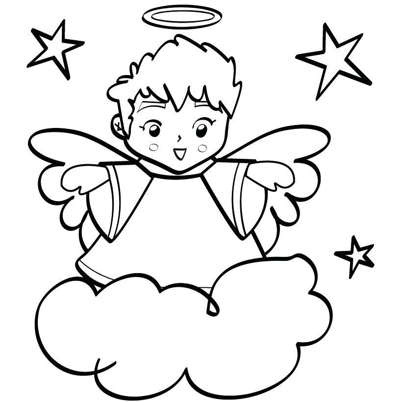 Tranh tô màu thiên thần