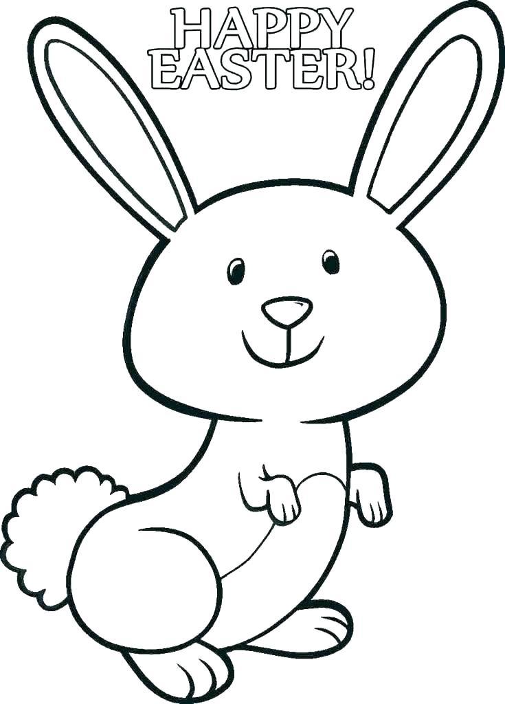 Tranh tô màu thỏ đáng yêu