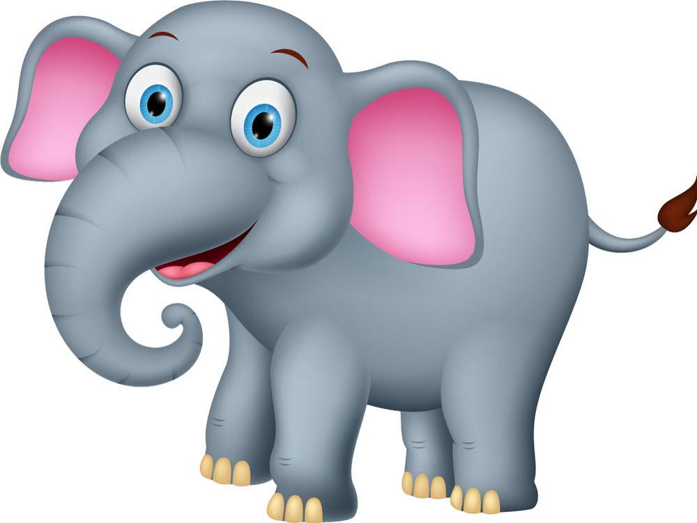 Hình ảnh con voi hoạt hình