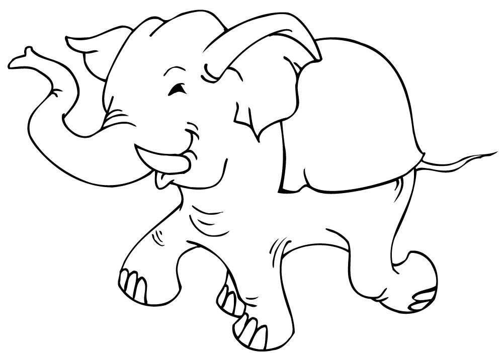 Hình ảnh tô màu con voi