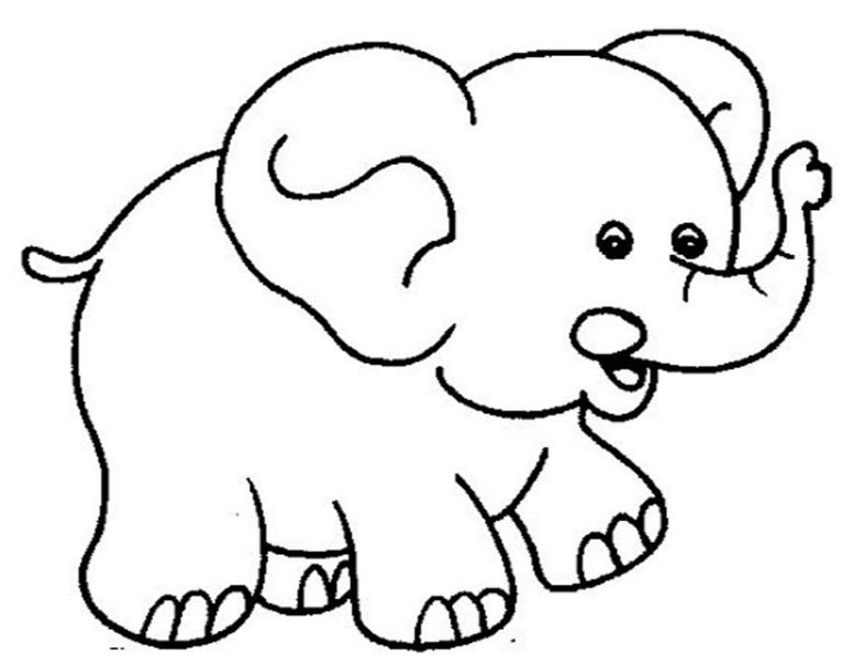 Hình ảnh vẽ con voi dễ thương