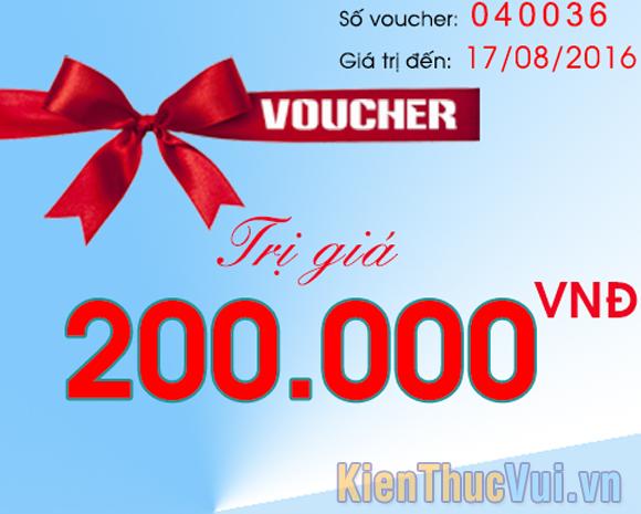 Voucher là một dạng phiếu mua hàng