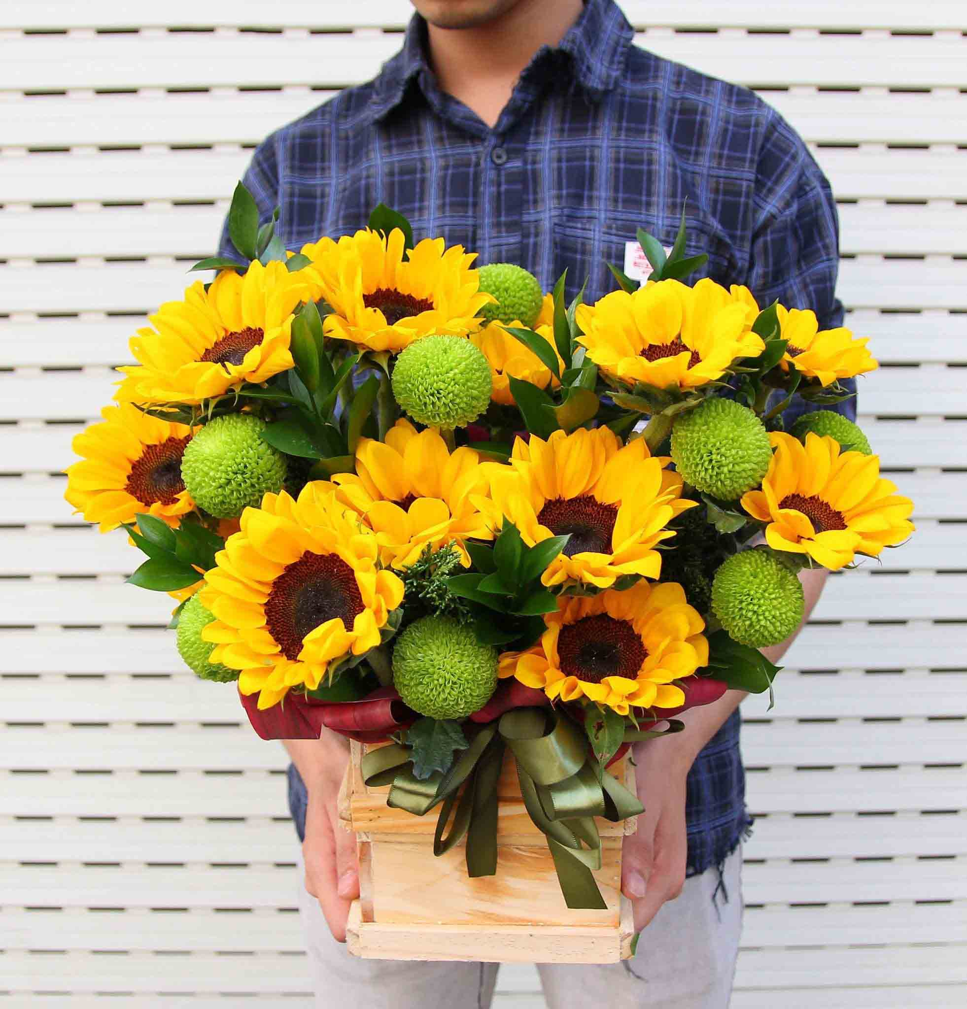 Các kiểu cắm hoa Hướng dương đẹp