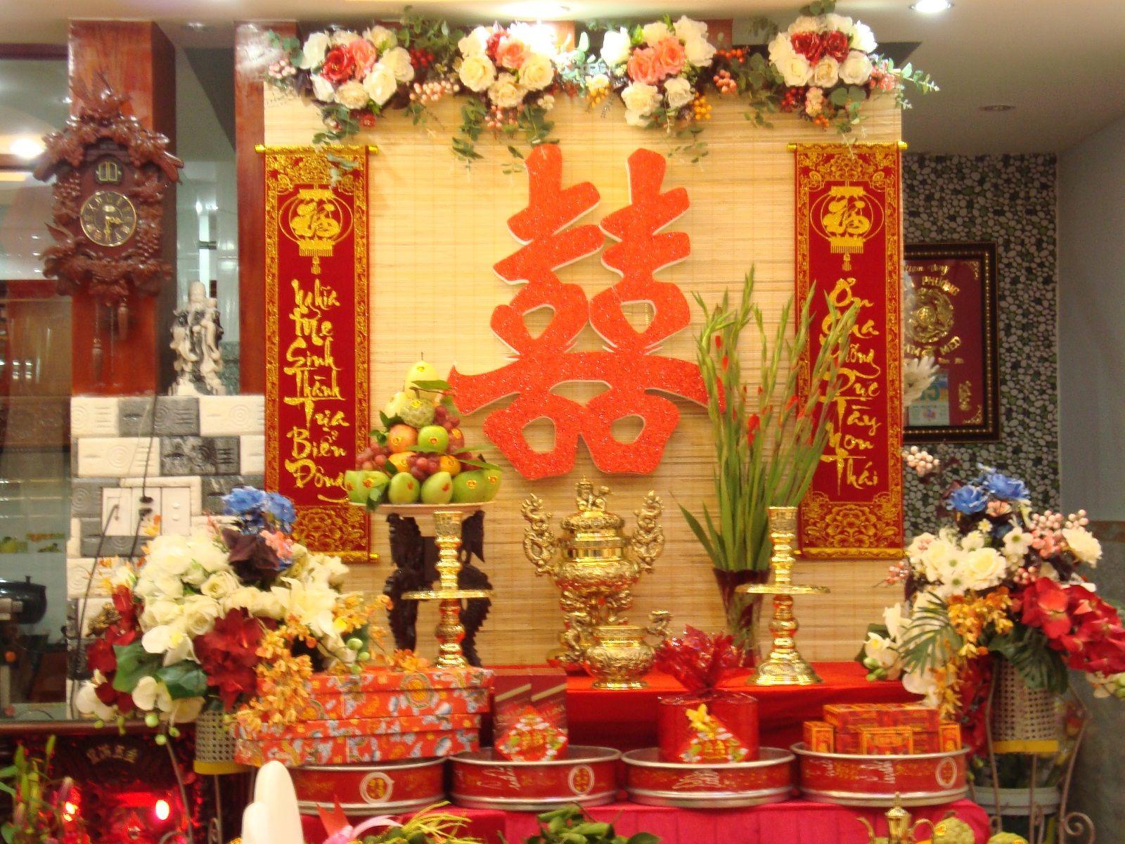 Cách cắm hoa cúng bàn thờ tổ tiên hình ảnh đẹp nhất