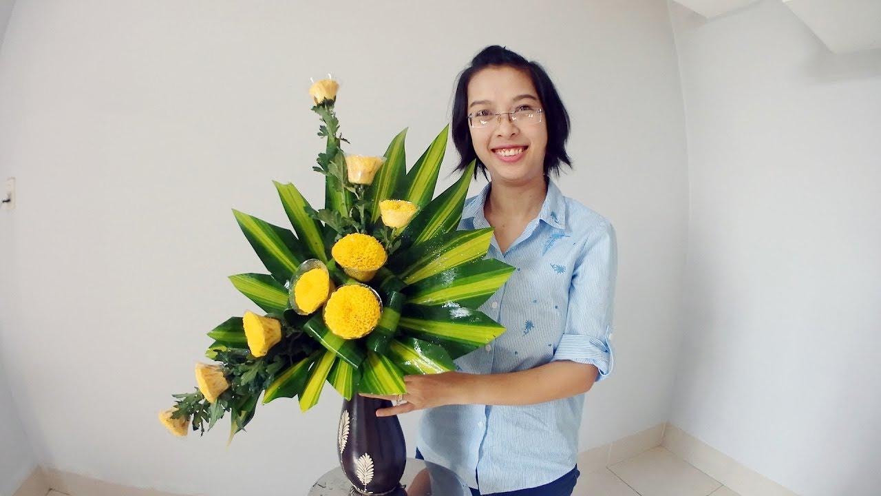 Cắm hoa bàn thờ hình ảnh đẹp nhất