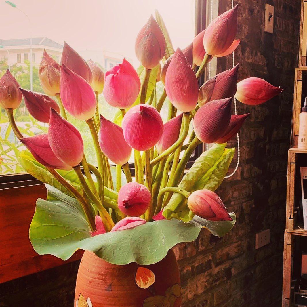 Hình ảnh cắm hoa bàn thờ ngày cưới bằng hoa sen đẹp nhất