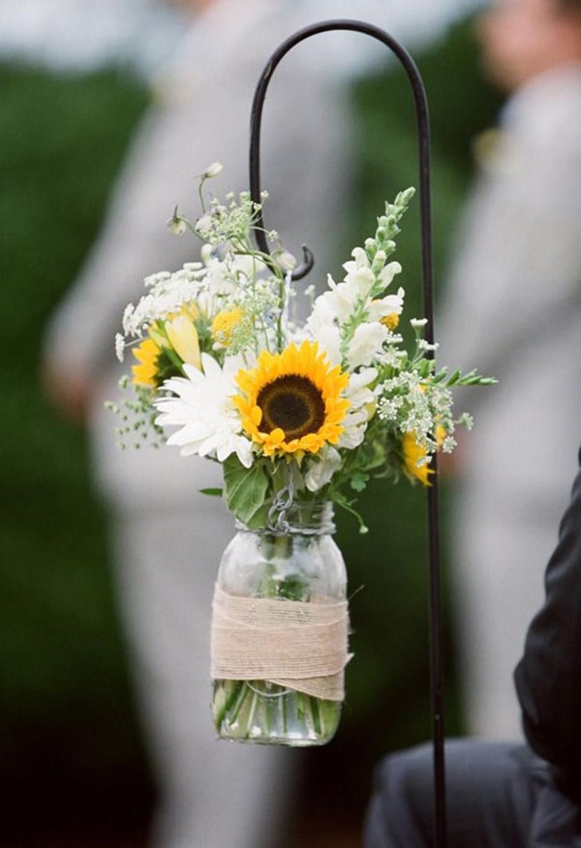 Mẫu cắm hoa  Hướng Dương đơn giản và đẹp nhất