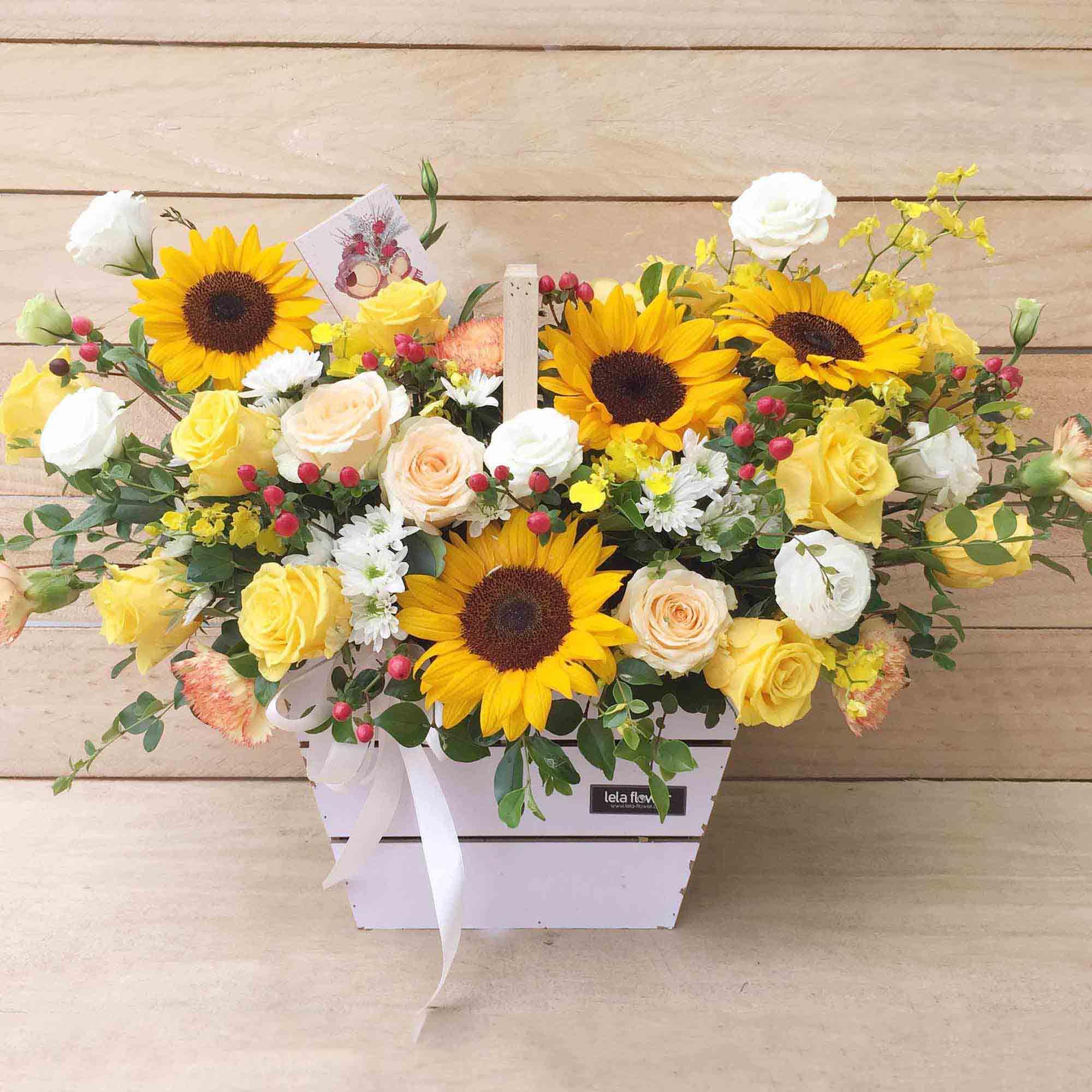 Mẫu cắm hoa Hướng dương hình ảnh đẹp nhất