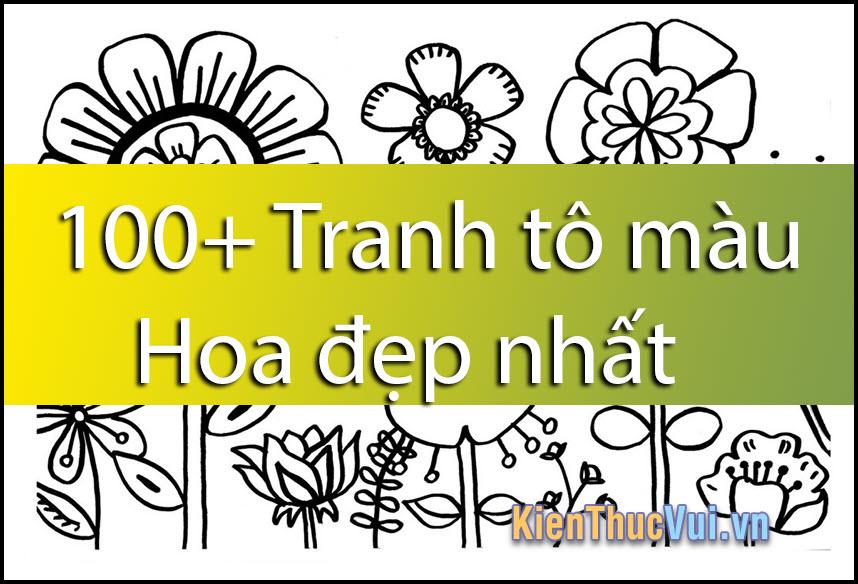 100+ Tranh tô màu Hoa đẹp nhất