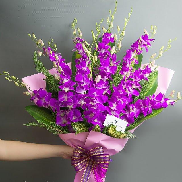Bó hoa màu tím đẹp
