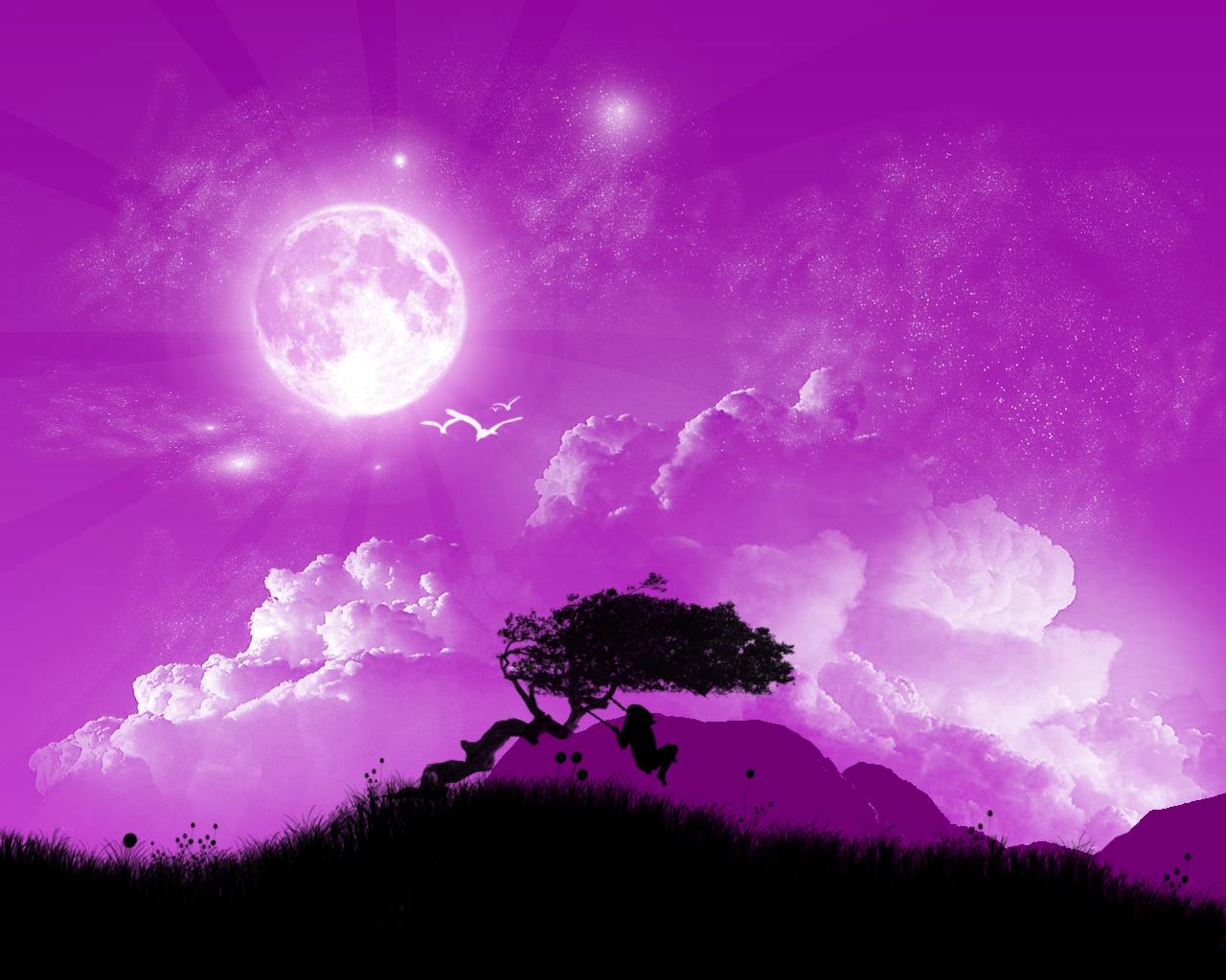 Hình ảnh bầu trời màu tím đẹp nhất