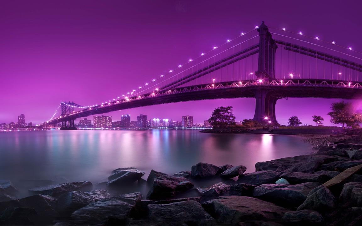 Hình ảnh chiếc cầu màu tím đẹp nhất