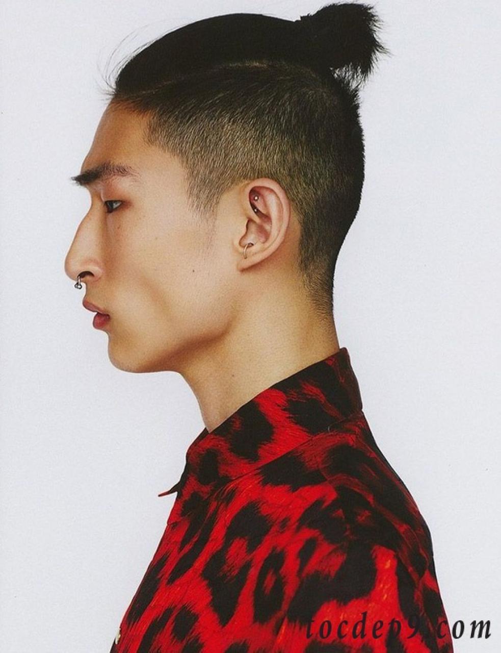 Kiểu tóc buộc undercut cho nam