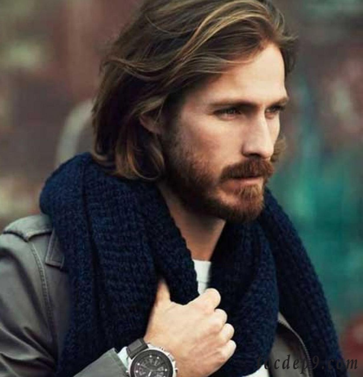 Tóc dài dành cho nam mặt dài