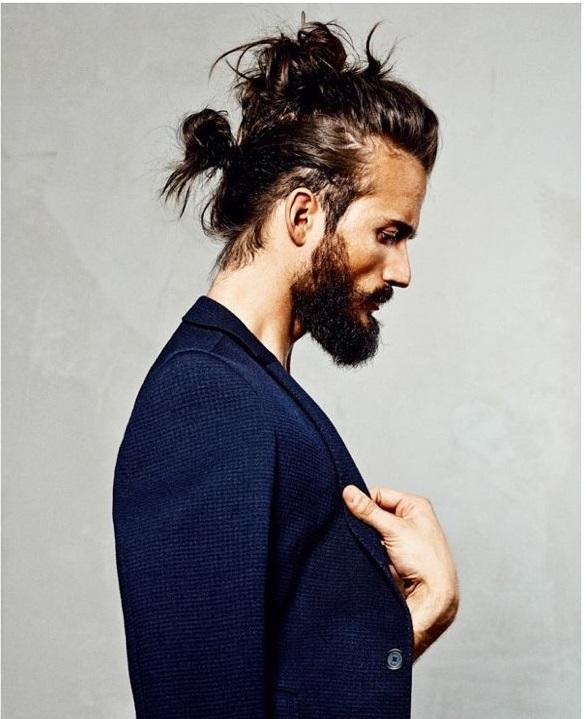Tóc dài nam búi lên đẹp
