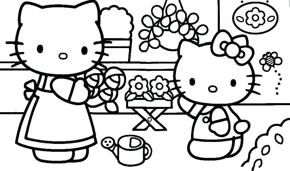 Các loại tranh tô màu Hello Kitty dành cho bé đẹp nhất