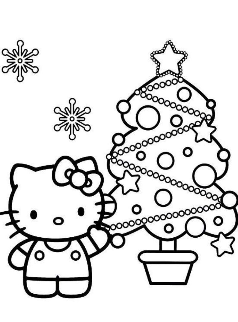 Hello Kitty mẫu tranh vẽ tô màu cho bé đẹp nhất