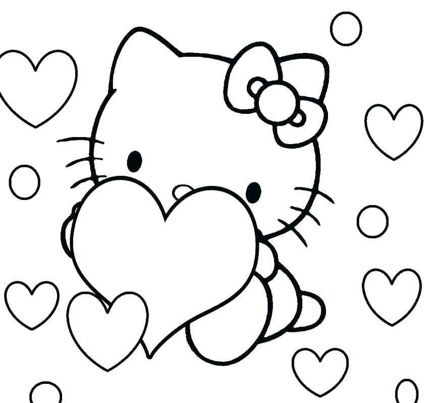 Hình ảnh các mẫu tranh tô màu Hello Kitty dễ thương nhất