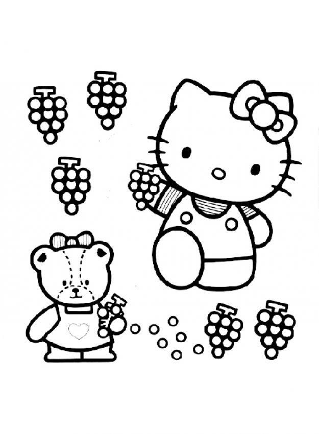 Hình ảnh Hello Kitty mẫu tranh cho bé tập tô màu