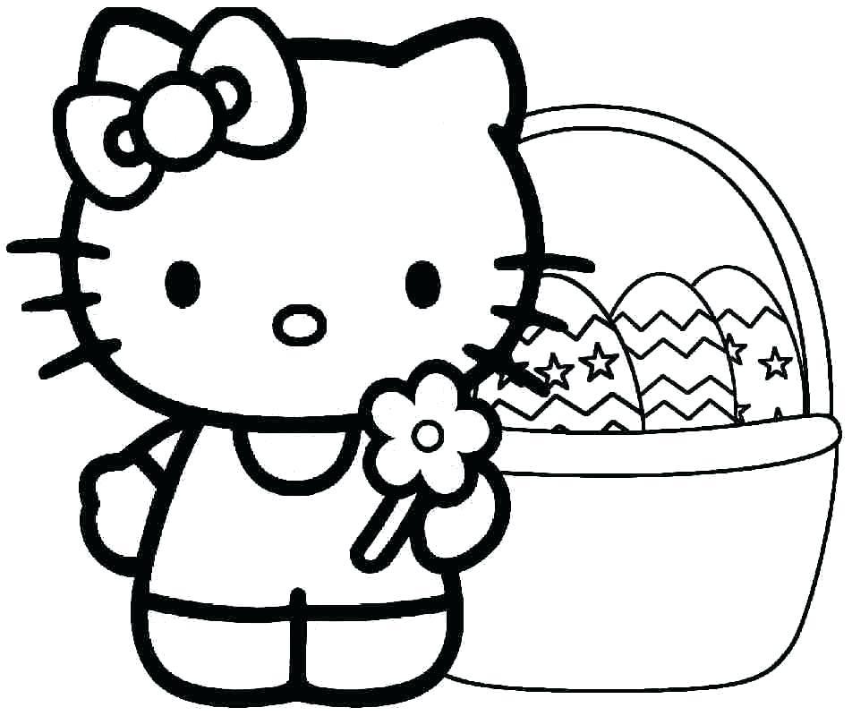 Hình ảnh Hello Kitty mẫu tranh tô màu cho bé đẹp