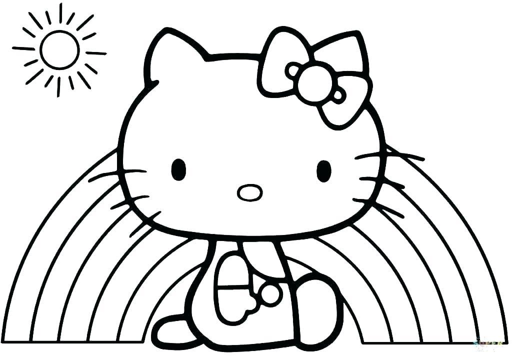 Hình ảnh những mẫu tranh tô màu hello Kitty đẹp nhất