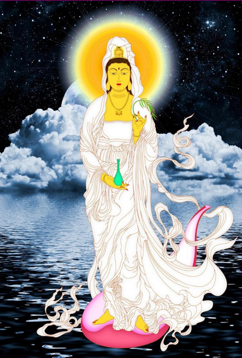 Hình ảnh Phật quan thế âm bồ tát cứu độ chúng sinh đẹp