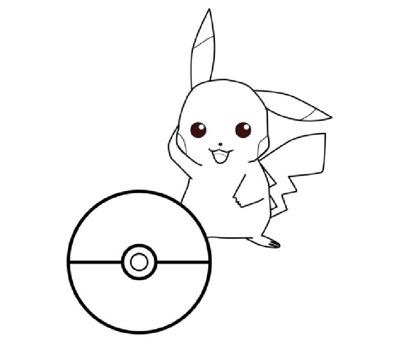 Hình ảnh Pokemon cho bé tập tô đẹp nhất