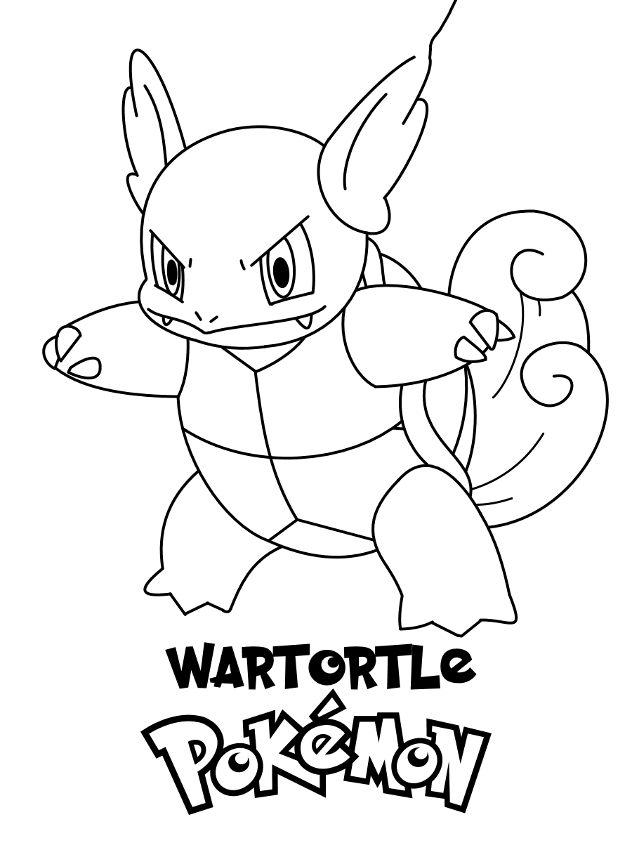 Hình ảnh Pokemon mẫu tranh tô màu đẹp cho bé