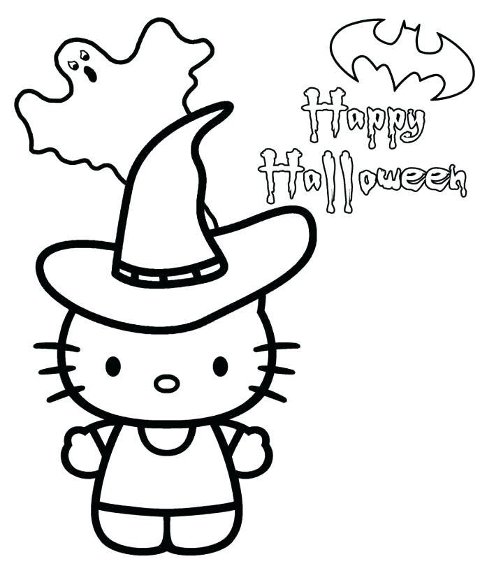 Hình ảnh tranh mèo Hello Kitty cho bé tập tô màu