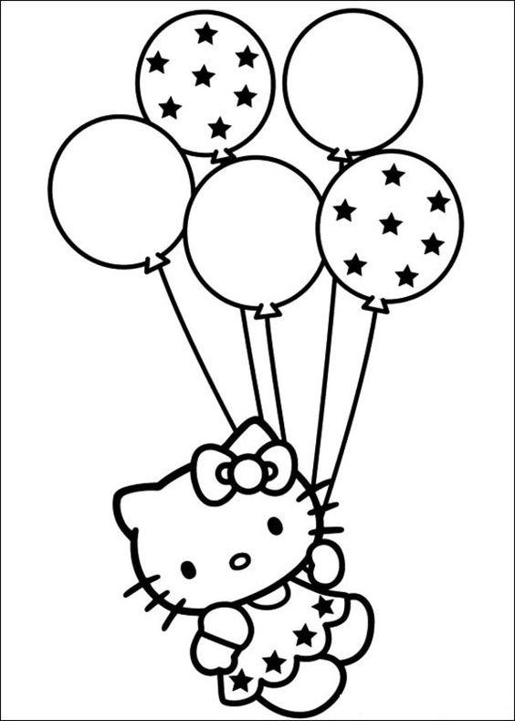 Hình ảnh tranh tô màu Hello Kitty dành cho bé đẹp nhất