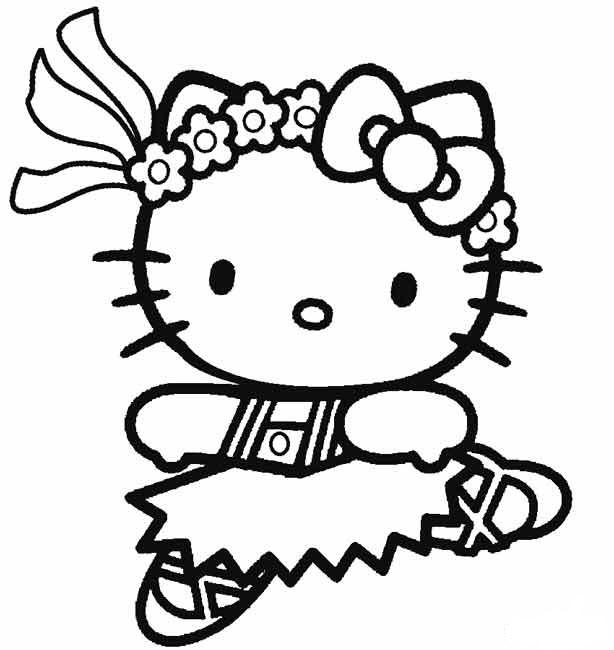 Hình ảnh tranh tô màu Hello Kitty mẫu vẽ đẹp nhất cho bé