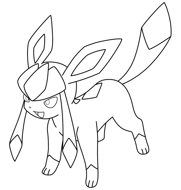 Hình ảnh tranh tô màu Pokemon huyền thoại cho bé