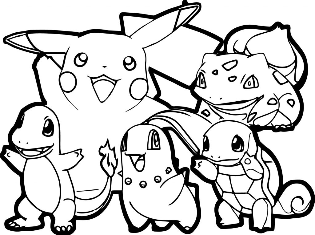 Hình pokemon tranh tập tô cho bé