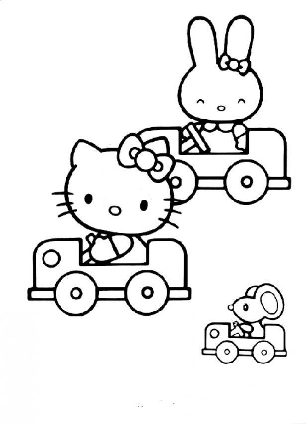 Hình tập tô màu Hello Kitty đẹp mẫu tranh vẽ cho bé tập tô đẹp nhất