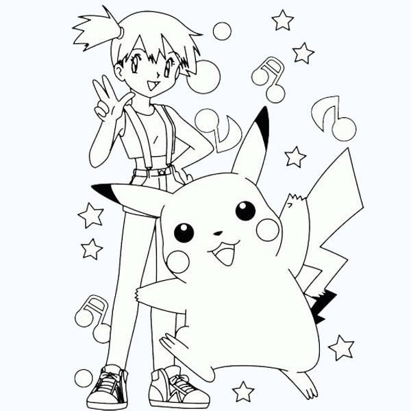Hình tranh tô màu Pokemon